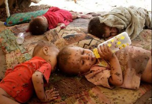 Foto triste de la pobreza